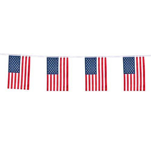 Boland 44951 - Flagge USA, Girlande, Länge 4 m, Dekoration, Fasching, Themenparty, Mottoparty