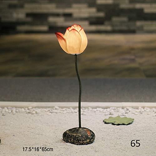 LKK-KK Lámparas de pie, Led creativo Lotus vertical Lámpara de piso, Habitación Sala simple planta de aterrizaje luz moderna mesa de centro Sofá Decoración Lámpara de piso, Eye-El cuidado de luz verti