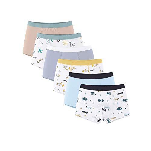 Cimary 6 er Pack Jungen Kinder Unterhose Boxer Boxershorts Unterhose Unterwäsche