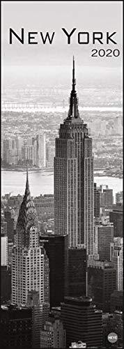 New York Vertical. Wandkalender 2020. Monatskalendarium. Spiralbindung. Format 24,5 x 69 cm