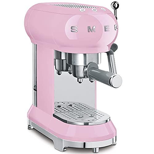 Smeg, macchina da caffè, in plastica, da 1 tazza, colore: rosa, ECF01PKEU, 1350