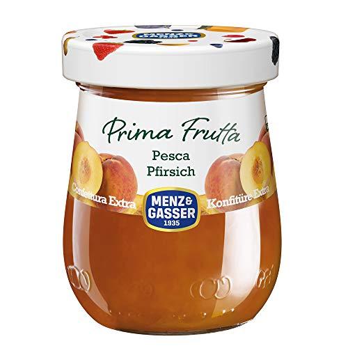 Menz & Gasser Confettura Extra di Pesche Prima Frutta - Confettura con Frutta di Alta Qualità, 1 Vaso x 340 g