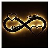 Geschenke zur Hochzeit Liebe Love personalisiert-e mit Namen zur Verlobung Jahrestag für Sie & Ihn Freundin Mädchen Junge Frauen Männer Partner Paare