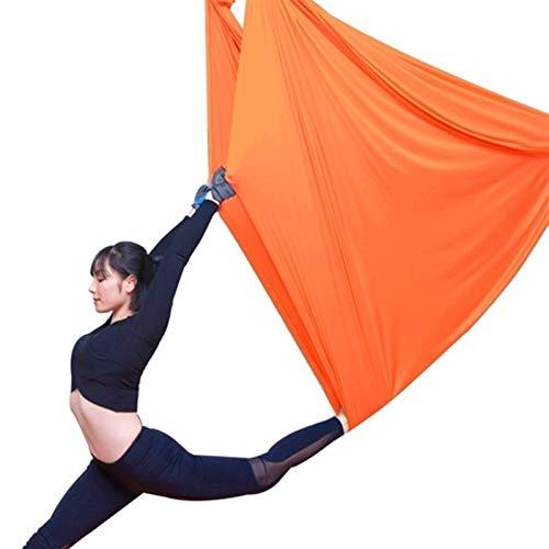 Columpio sensorial Yoga Hammock Aéreo Yoga Volando Yoga Swing Trapeze Sling Inversión Herramienta para gimnasio Home Fitness Cargar 900kg Flexibilidad y fuerza central mejoradas ( Color : ORANGE )