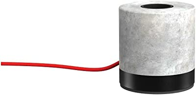 Xanlite Beton-Chevet LED décorative Industrielle Charme-Lampe à Poser Cyclo Fil Rouge-XDLAPCYCLOCR, 60 W