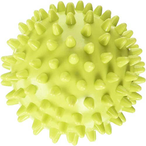 STURME Massage Ball Spiky Deep Tissue Foot, Back, Plantar Fasciitis & All Over Body Deep Tissue Muscle Therapy - Includes Free Tutorial Holder Ball Bag (Purple)