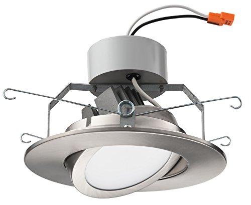 Lithonia Lighting 6 Inch LED Gimbal, Brushed Nickel, Higher Lumen Version