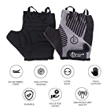 FITUP LIFE Gym & Cycling Gloves with Adjustable Strap & Dotted Padding (Imported)
