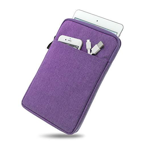 Wasserabweisende Tasche mit Kantenschutz für Samsung Galaxy Tab 4 7.0 in Purple | Superweiches Inlay inkl. Zubehörfach und strapazierfähigem Reißverschluss [passend für Modell SM-T230, SM-T235]