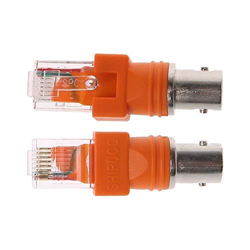 Conectores 1 PC BNC hembra/F hembra a RJ45 macho adaptador chasis montaje en panel Accesorios - (Longitud del cable: F hembra a RJ45)