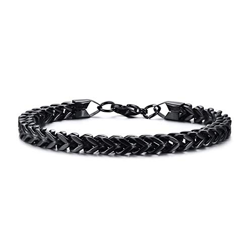 AGBFJY Fashion roestvrij staal zilver Bali Foxtail ketting armband mannen dubbele Link ketting armband mannen sieraden