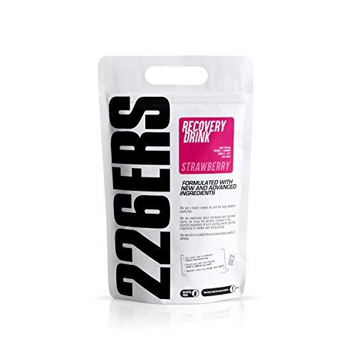 226ERS Recovery Drink, Recuperador Muscular con Proteína Whey, Creatina, Hidratos de Carbono, Triglicéridos y L-Arginina, Fresa - 1000 gr