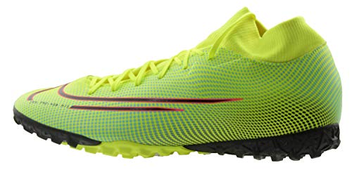Nike Superfly 7 Academy MDS Tf, Scarpe da Football Uomo, Lemon Venom Black Aurora Green, 42.5 EU