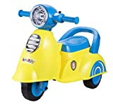 Goyal's Lovebaby Wheelie Scooter Ride-On for Kids, with Music & Light, 12 Months + (Yellow)