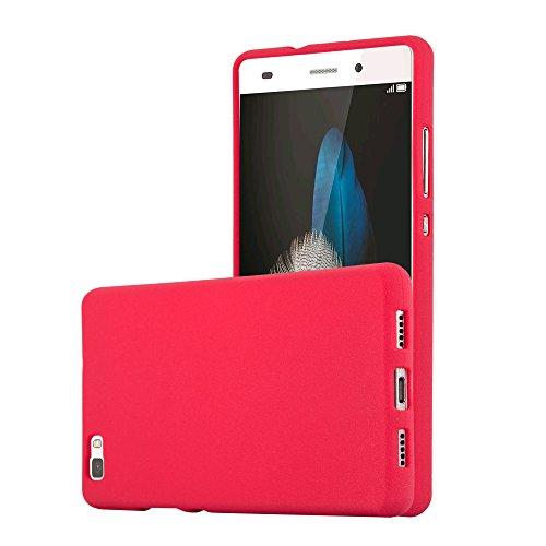 Cadorabo Funda para Huawei P8 Lite 2015 en Frost Rojo - Cubierta Proteccíon de Silicona TPU Delgada e Flexible con Antichoque - Gel Case Cover Carcasa Ligera
