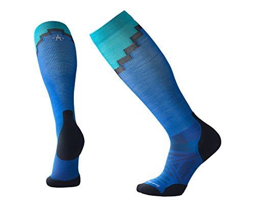 Smartwool Men's Performance Athletic Calf Socks - PhD Pro Mountaineer BRIGHT BLUE M