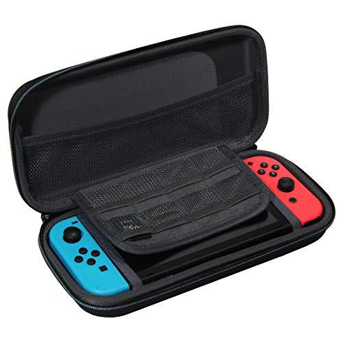 TUDIA Hard Protective Travel EVA - Funda protectora para amortiguación de golpes compatible con Nintendo Switch Console y accesorios, color negro