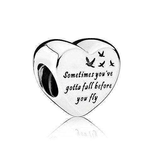 MOCCI 2016 autunno moda autentica 925 sterling silver fai da te cuore della libertà perline di fascino adatto per pandora bracciali monili che fanno