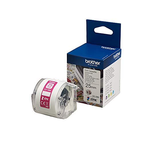 Brother CZ-1004 Farbetikettenrolle, 25 mm breit, 5 m lang für Etikettendrucker VC-500W