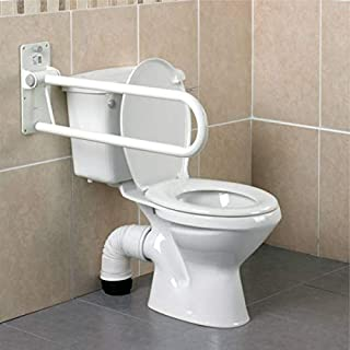Homecraft Devon Deluxe Folding Support Rail, Bathroom Aid for Elderly, Handicapped, Disabled Users, Bathroom Grab Bar for Stability and Control, Safety Handle and Rail for Lavatory and Bathroom