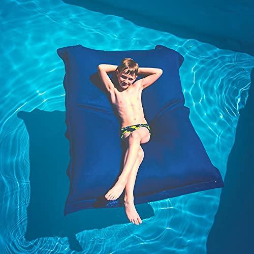 Livedeco BiG52 Pool - Puf gigante para piscina, color azul