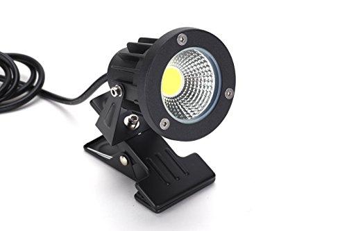 FSLiving 看板用 黒板用照明 【防雨型/屋外対応】 LEDクリップライト ピッコロライト コード長3mクリップライト 防雨型クリップライト LEDライト 電気スタンド デスクスタンド 昼光色6000K PSE認証済み