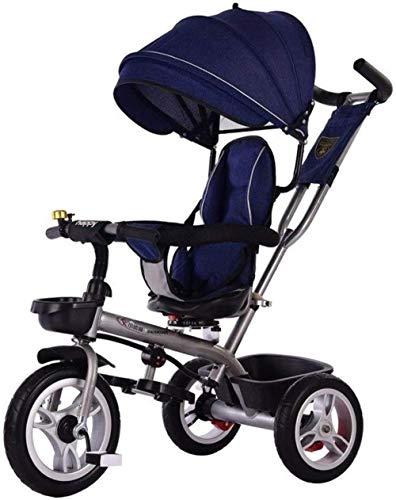 Pushchairs kindertrikes driewieler wandelwagen driewieler met drukknop handvat peuter fiets peuter met verstelbare stoel met luifel ouder duwen driewieler voor kinderen baby producten