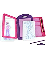 Save on Melissa & Doug Fashion Design Activity Kit (Arts & Crafts, 9 Double-Sided Rubbing Plates, 4 Pencils, Crayon, 16 Pieces, Great Gift for Girls and Boys - Best for 5, 6, 7 Year Olds and Up)