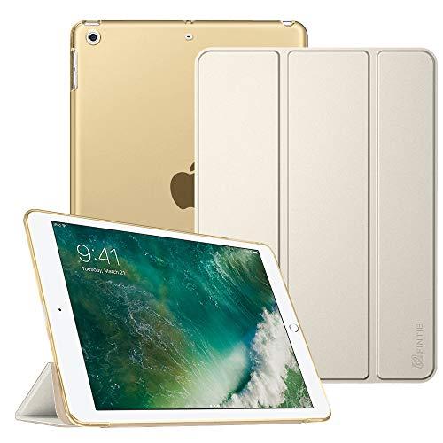 """Fintie Hülle für iPad 9.7 Zoll 2018/2017 - Ultradünn Schutzhülle mit transparenter Rückseite Abdeckung Cover mit Auto Schlaf/Wach für 9.7\"""" iPad 6. Generation / 5. Generation, Champagner Gold"""