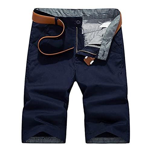Pantalones Cortos Carga Talla granPantalones Cortos Carga Color sólido para Hombres Dark Blue 30