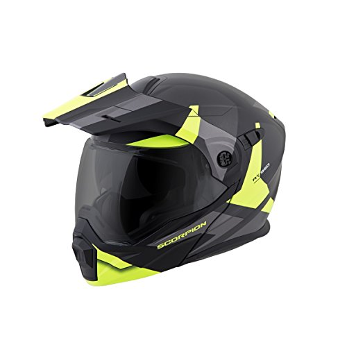 ScorpionEXO Unisex-Adult Modular/Flip Up Adventure Touring Motorcycle Helmet (Hi-Viz, Large)...