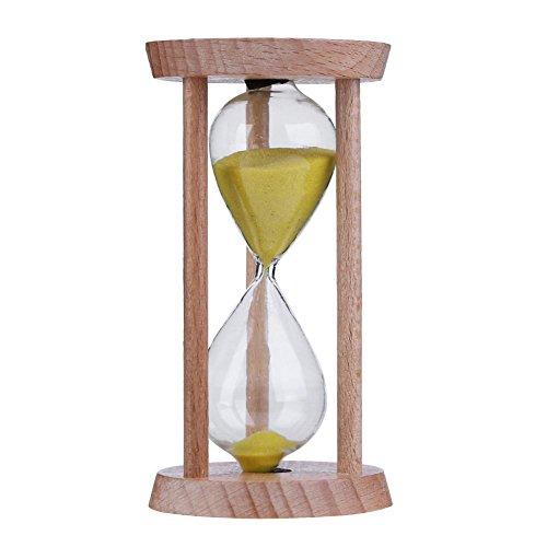 Everpert Sabliers Minuterie Horloge de Sable en Bois 3 Minutes Brosse à Dents Enfants Cadeau Jouets Ornement Horloge pour Jeux,Cuisine, Exercice (Jaune)