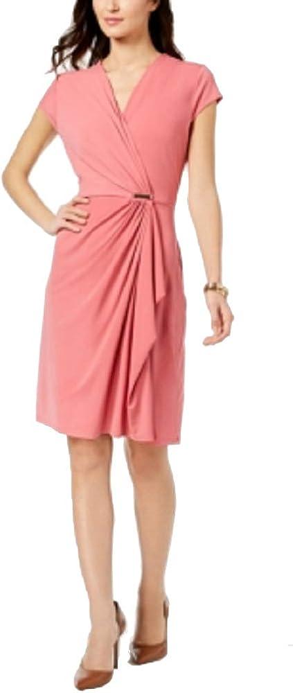 Charter Club Draped Faux-Wrap Dress
