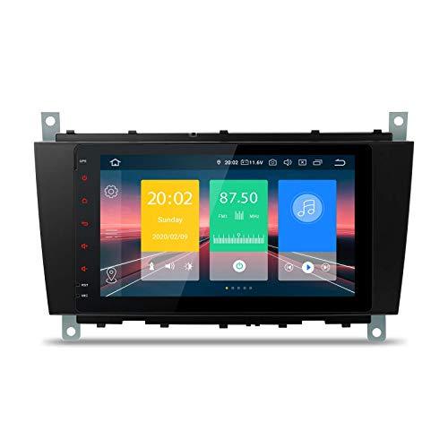 Bluetooth 5.0 Android 10.0 Radio estéreo para automóvil Unidad principal de 8 pulgadas Soporte de navegación GPS Plug and Play CarAutoPaly WIFI DVR DAB + OBD para Mercedes - Benz C / CLK W203 W209
