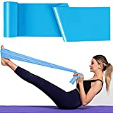 Bande Elastiche Fitness, 1,8 m Fasce Elastiche, Fascia Elastica Esercizi Ideale per Yoga, Pilates, Allenamento di Forza e Flessibilità (Blu)