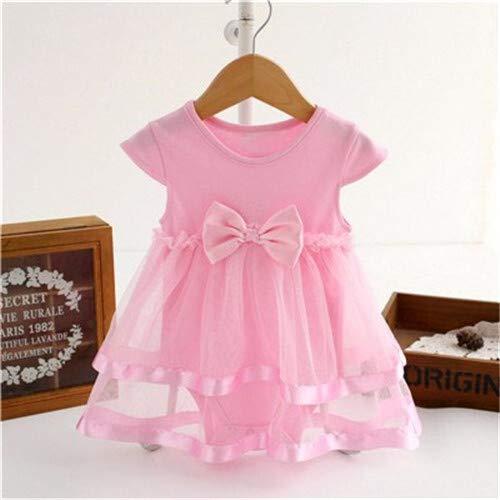 Leuke rok met patroon Jurk kinderen rok leuke rokje patroon mouwloze jurk meisje kleding comfortabel hjm ertongqun (Couleur : G12 Pink, Taille américaine des enfants : 12M)