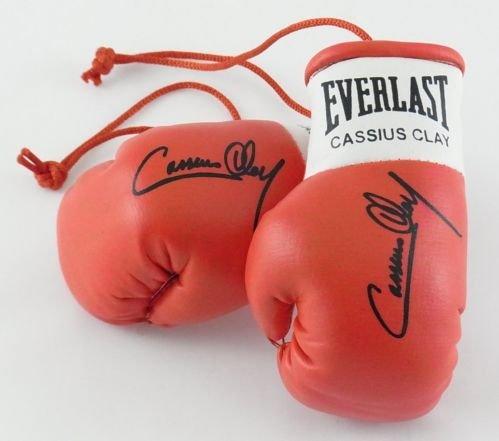 Everlast Autografiada Mini Guantes de Boxeo Cassius Clay