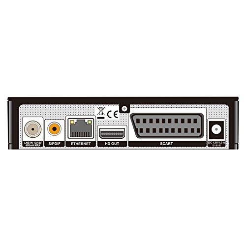 Edision Primo IP S2H.265HEVC Full HD - Receptor Linux por satélite, Multi Stream, T2MI (1x DVB-S2, 2x USB, HDMI)