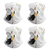 Face Mask Top View A Champagne Bottle in Metal Ice Windproof Neck Gaiter N70447