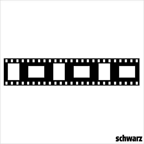CrazyShirt Wandtattoo Filmstreifen (schwarz Gloss)