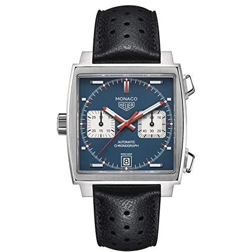 Tag Heuer orologio Monaco Calibre 11 automatico blue dial 39mm CAW211P.FC6356