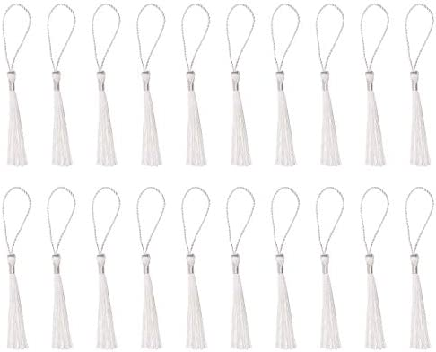 Tupalizy Mini Silky Handmade Soft Flossy Bookmark Tassels with Cord Loop for Keychain Earring product image
