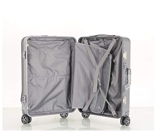 Maleta de aluminio con marco de equipaje de apertura frontal de policarbonato puro, rueda universal para negocios