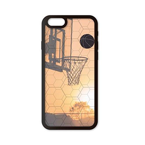 Funda móvil Compatible con iPhone 6/Compatible con iPhone 6s Baloncesto Canasta. Carcasa de TPUde Alta protección. Funda Antideslizante, Anti choques y caídas.