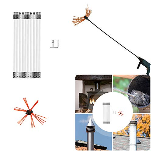 New NANANA Chimney Cleaning Kit Vent Chimney Cleaning System, Durable Chimney Brush Rotary Chimney C...