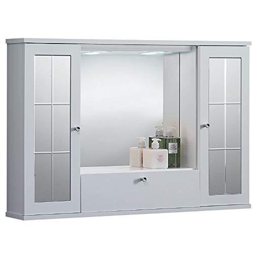 LIBEROSHOPPING.eu - LA TUA CASA IN UN CLIK Miroir Salle de Bain Blanche Polyvalente MERCURIO (avec miroirs, 90)