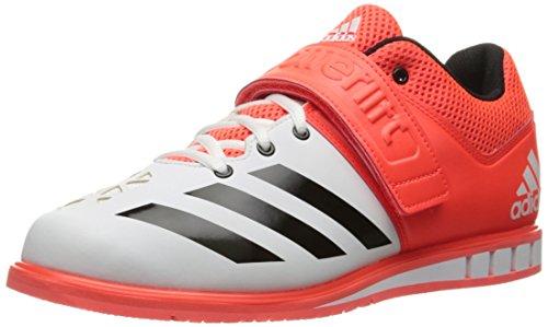 adidas Performance Men's Shoes | Powerlift.3 Cross-Trainer, Solar Red/Black/White, 15 M US