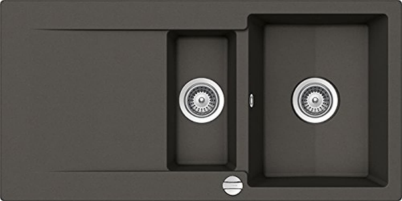 SCHOCK Spüle EPURE D-150-U Cristalite+   inkl. Glasschneidbrett EPUD150UGAS