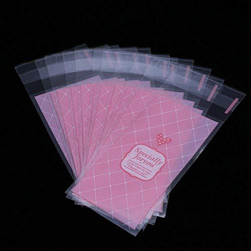 Qingsb 100 Stück/Los Plastikplätzchenverpackung 5x10cm Cupcake-Verpackungsbeutel OPP...
