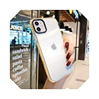 カラフルなバンパークリア電話ケースFor iPhone11 11 Pro Max XR X XS Max 7 8 PlusXソフトシリコン耐衝撃性透明裏表紙-Yellow-For iphone XS Max